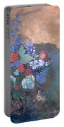 Ophelia Among The Flowers Portable Battery Charger by Odilon Redon