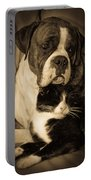Opposites Attract Portable Battery Charger by DigiArt Diaries by Vicky B Fuller