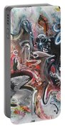 Orang Elblue Black Grey Abstract Landscape Art Portable Battery Charger