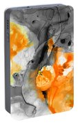 Orange Abstract Art - Iced Tangerine - By Sharon Cummings Portable Battery Charger