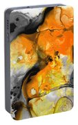 Orange Abstract Art - Light Walk - By Sharon Cummings Portable Battery Charger