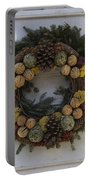 Orange And Artichoke Wreath Portable Battery Charger