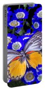 Orange And Gray Butterfly Portable Battery Charger