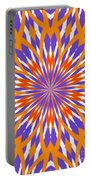 Orange And Purple Kaleidoscope Portable Battery Charger