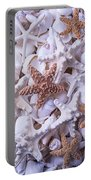 Orange And White Starfish Portable Battery Charger