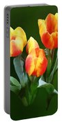Orange And Yellow Tulips Portable Battery Charger