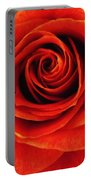 Orange Apricot Rose Macro With Oil Painting Effect Portable Battery Charger