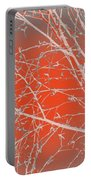 Orange Branches Portable Battery Charger
