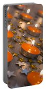 Orange Candles Portable Battery Charger