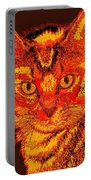 Orange Cat Portable Battery Charger