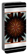 Orange Chocolate Trio - Kaleidoscope - Triptych Portable Battery Charger
