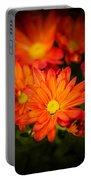 Orange Chrysanthemum Portable Battery Charger