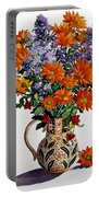 Orange Chrysanthemums Portable Battery Charger