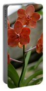 Orange Colored Orchid Portable Battery Charger