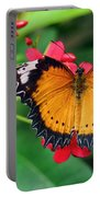 Orange Common Lacewing Butterfly Portable Battery Charger