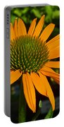 Orange Cone Flower Portable Battery Charger