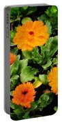 Orange Country Flowers - Series I Portable Battery Charger