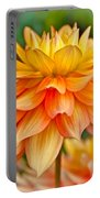 Orange Cream Dahlia Portable Battery Charger