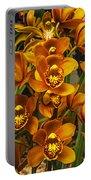 Orange Cymbidium Portable Battery Charger