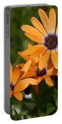 Orange Daisy Portable Battery Charger