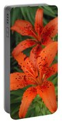 Orange Day Lilies Portable Battery Charger