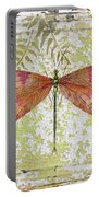 Orange Dragonfly On Vintage Tin Portable Battery Charger
