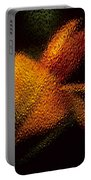 Orange Floral In Abstract Portable Battery Charger