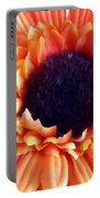 Orange Flower Portable Battery Charger