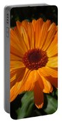 Orange Flower In The Garden Portable Battery Charger