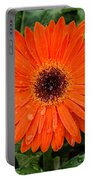 Orange Gerber Daisy 3 Portable Battery Charger