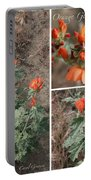 Orange Globe Mallow Collage Portable Battery Charger