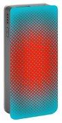 Optical Illusion - Orange On Aqua Portable Battery Charger