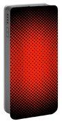 Optical Illusion - Orange On Black Portable Battery Charger