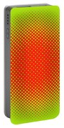 Optical Illusion - Orange On Lime Portable Battery Charger