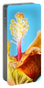 Orange Hibiscus Texture I Portable Battery Charger