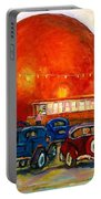 Orange Julep With Antique Cars Portable Battery Charger by Carole Spandau