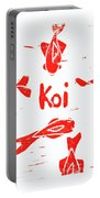 Orange Lazy Koi Portable Battery Charger by Lynn-Marie Gildersleeve