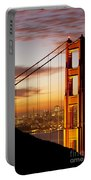 Orange Light At Dawn Portable Battery Charger