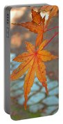 Orange Maple Leaves Portable Battery Charger