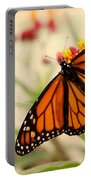 Orange Mariposa Portable Battery Charger