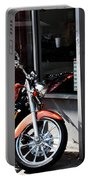 Orange Motorcycle Portable Battery Charger