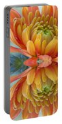 Orange Mum's Watery Reflection Portable Battery Charger