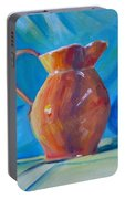 Orange Pitcher Still Life Portable Battery Charger