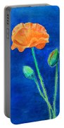 Orange Poppy Portable Battery Charger