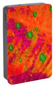 Orange Purple Tapestry Abstract Portable Battery Charger