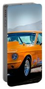 Orange Racing Mustang Portable Battery Charger