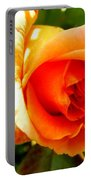 Orange Rose Bloom Portable Battery Charger