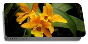 Orange Spotted Lip Cattleya Orchid Portable Battery Charger