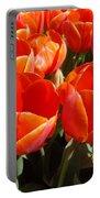 Orange Spring Tulip Flowers Art Prints Portable Battery Charger
