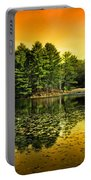 Orange Sunrise Reflection Landscape Portable Battery Charger